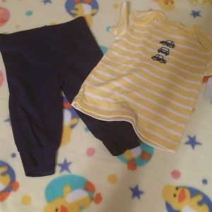 (3/$25) 3-6 months matching t-shirt and pant set